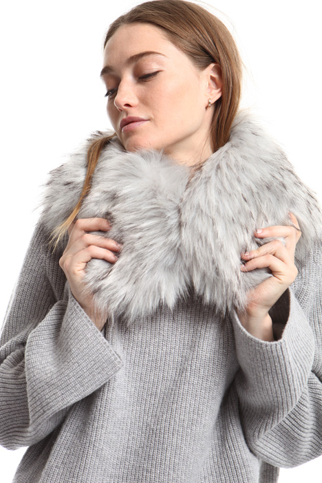 Fur-effect collar Intrend
