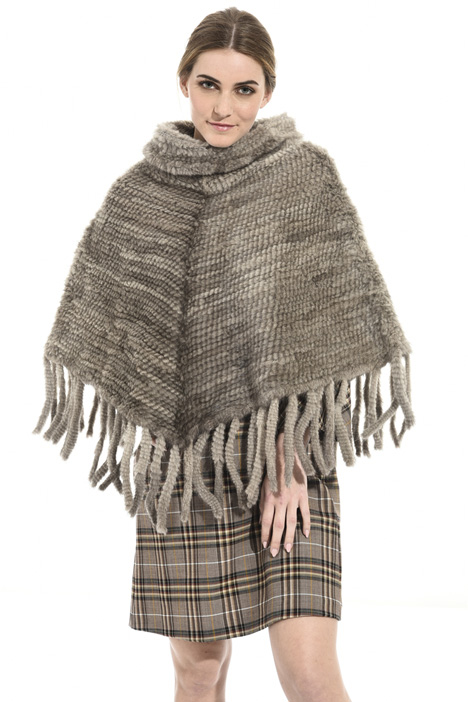 Mink poncho Intrend