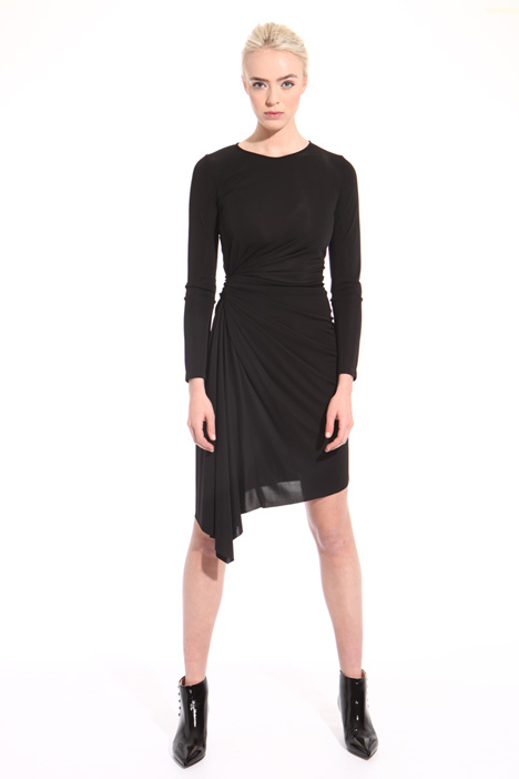 Asymmetrical draped dress  Intrend