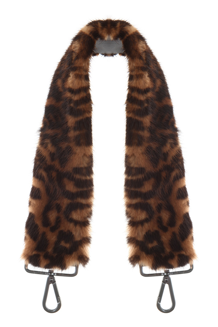 Printed fur strap Intrend