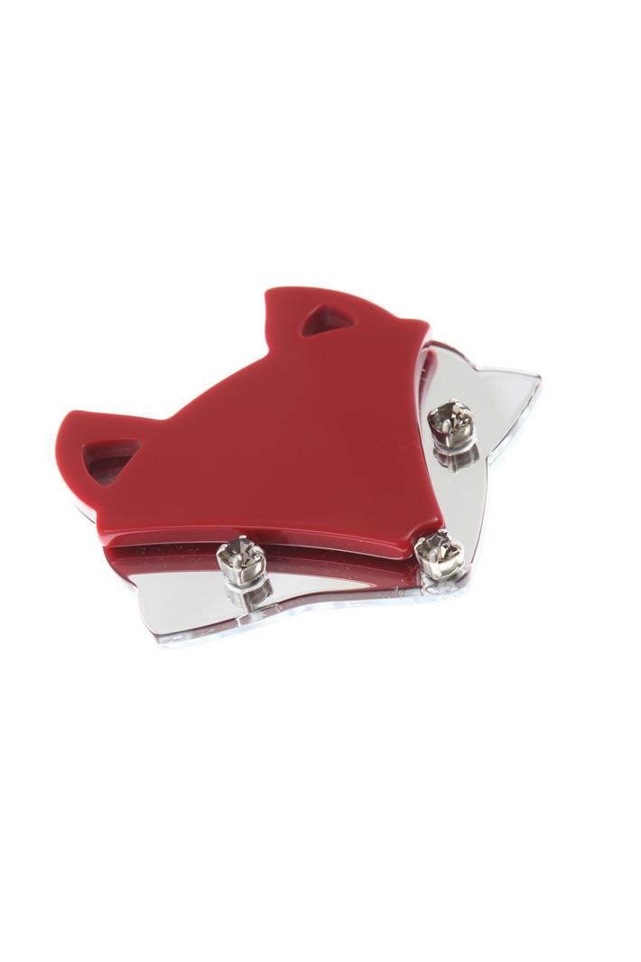 Resin brooch with rhinestones Intrend