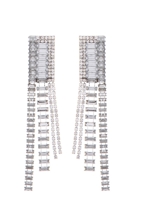 Glass rhinestone earrings Intrend