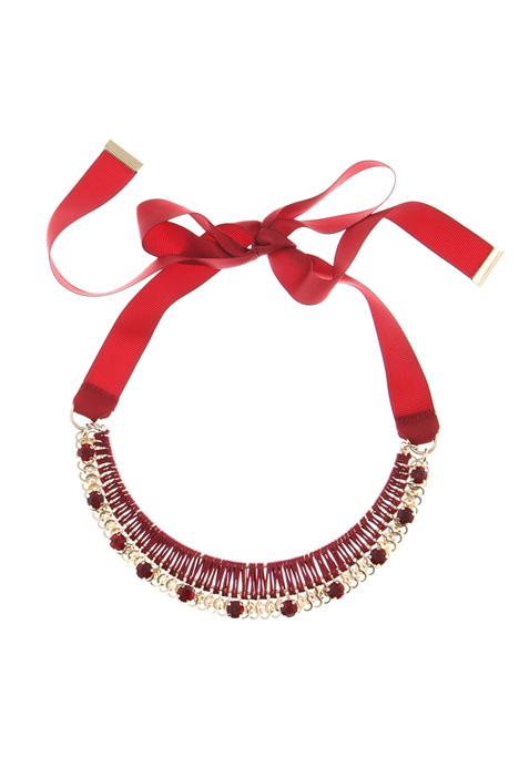 Rigid necklace with ribbon Intrend