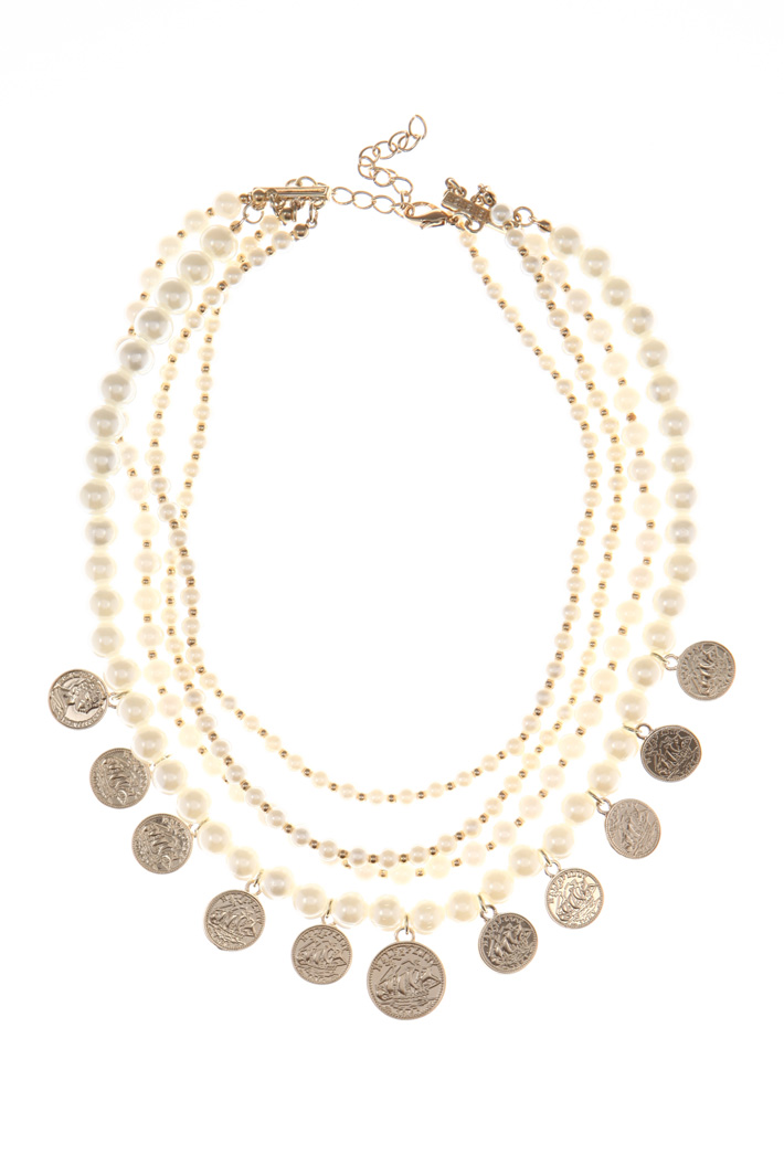Metal and bead necklace Intrend