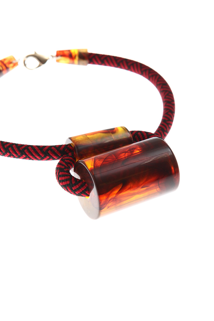 Resin necklace Intrend