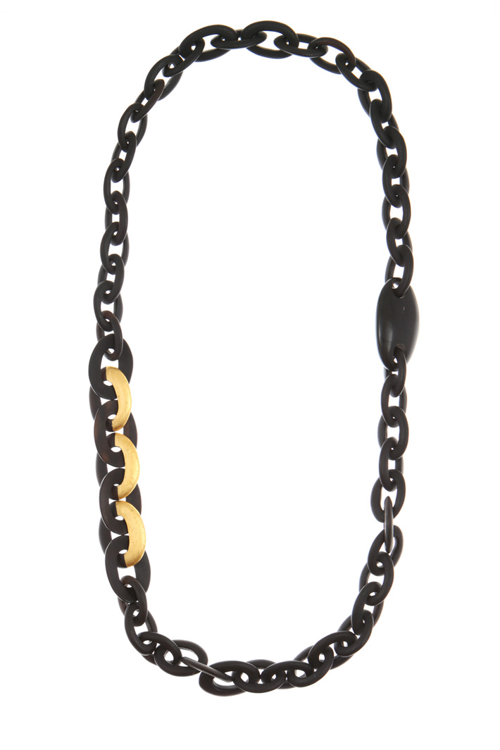 Ebony wood necklace Intrend