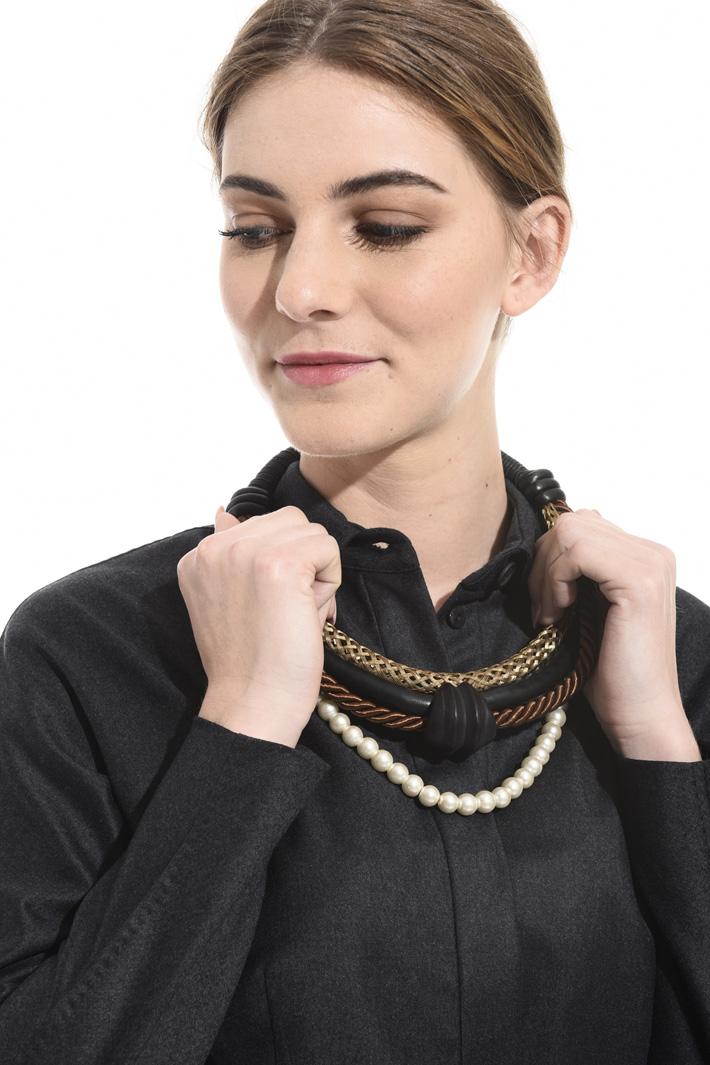 Ebony collar necklace Intrend