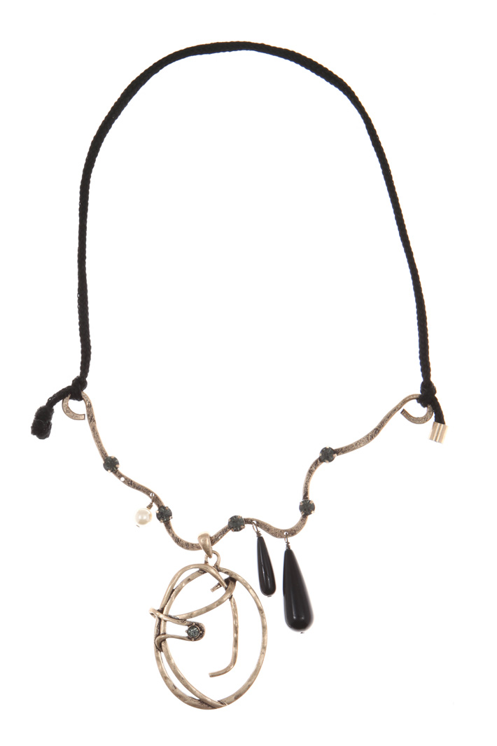 Rope and metal necklace Intrend