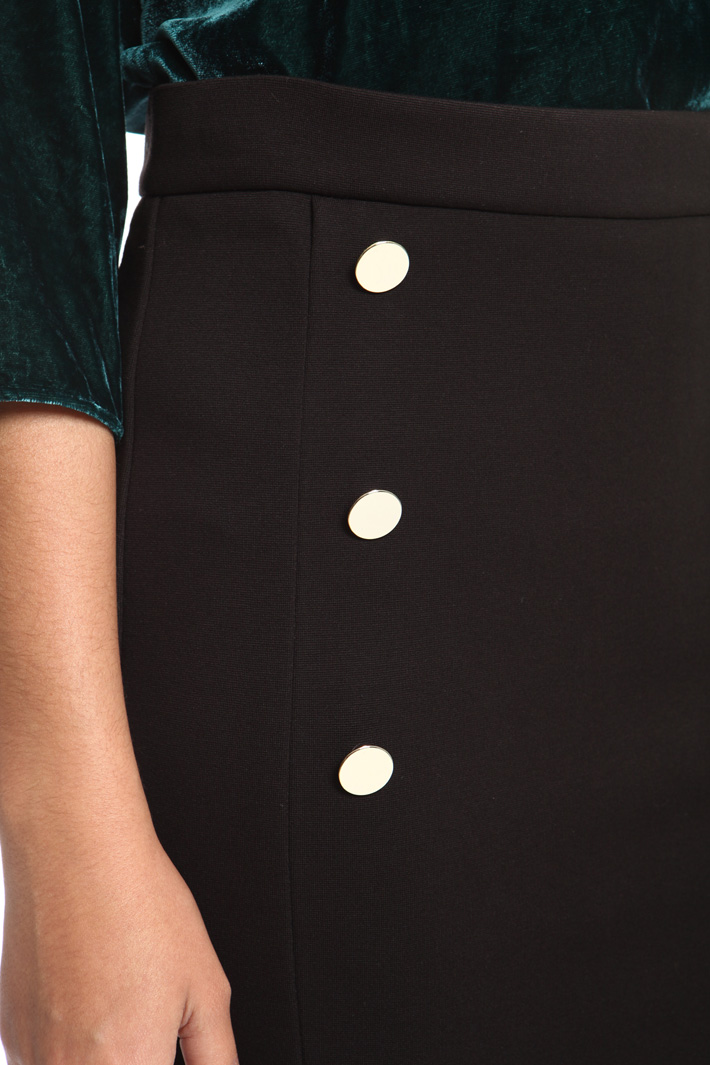 Buttoned jersey skirt Intrend