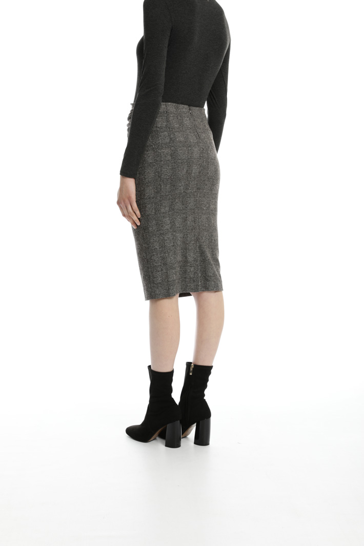 Flannel sheath skirt Intrend