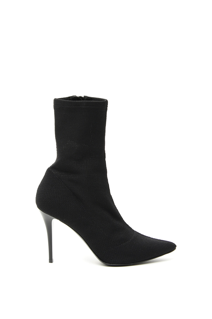 Ankle boot in stretch fabric  Intrend