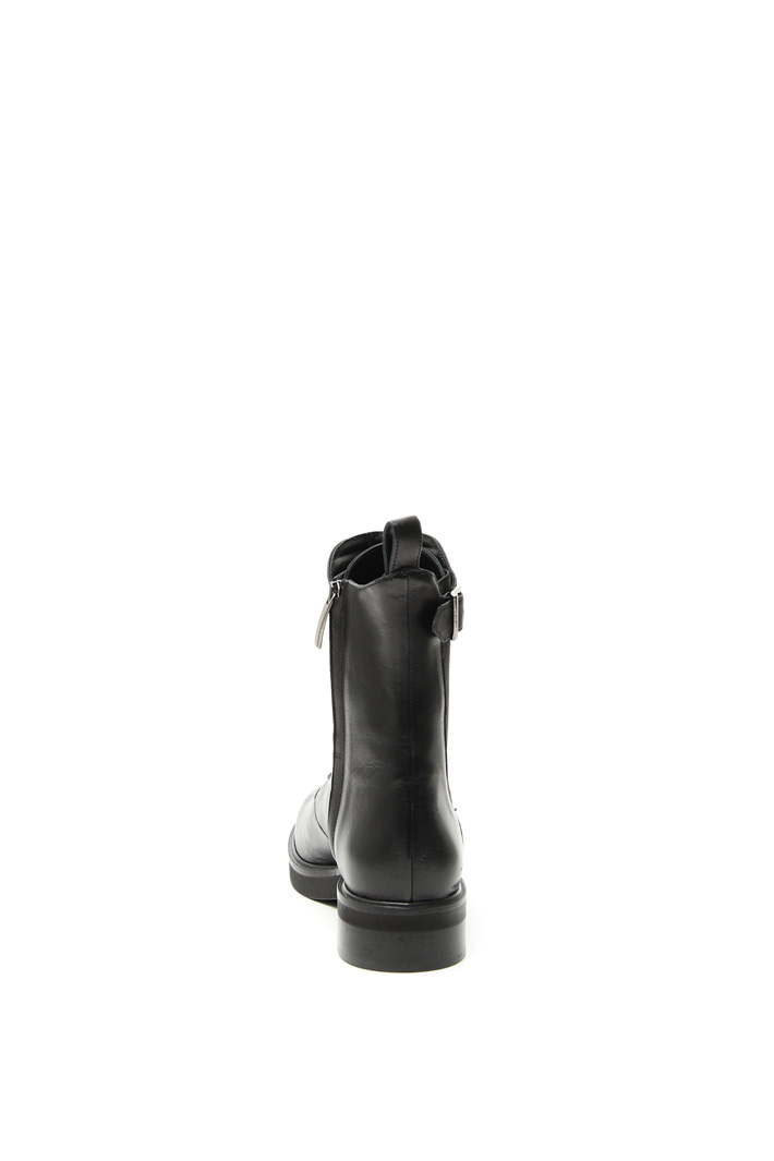 Leather biker boots Intrend