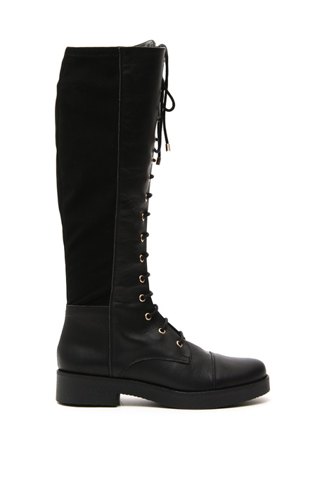 Leather and fabric boots Intrend