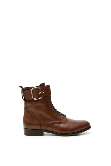 Laced leather ankle-boots Intrend