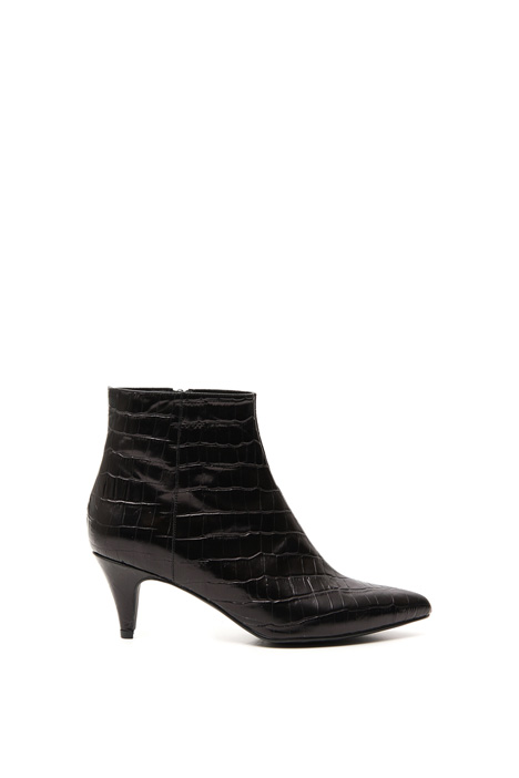 Crocodile print ankle-boots Intrend