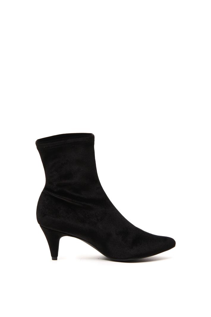 Velvet sock boots Intrend