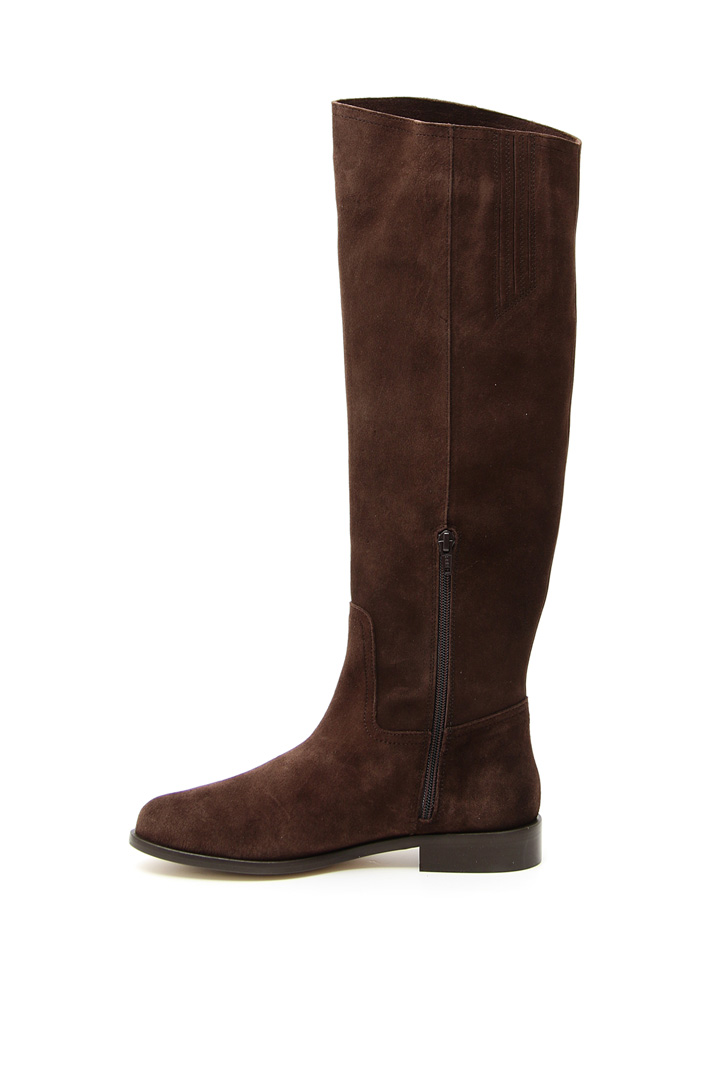 Crust chamois leather boots Intrend