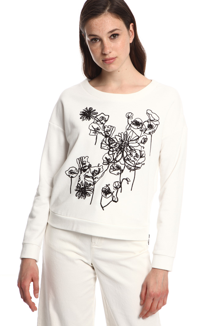 Cotton and knit sweatshirt  Intrend