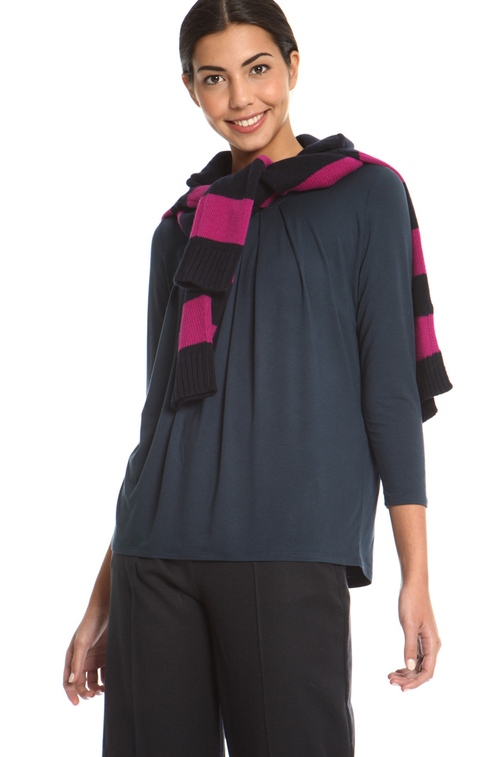 Jersey T-shirt with pleats  Intrend