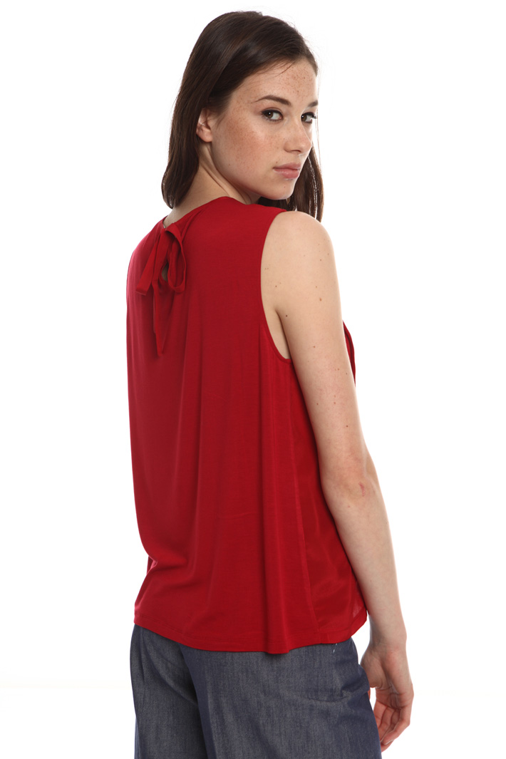 Silk and jersey top Intrend