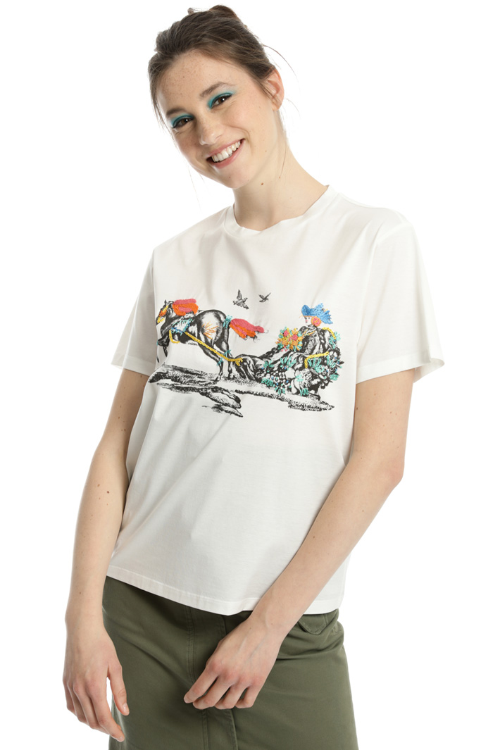T-shirt in puro cotone Intrend