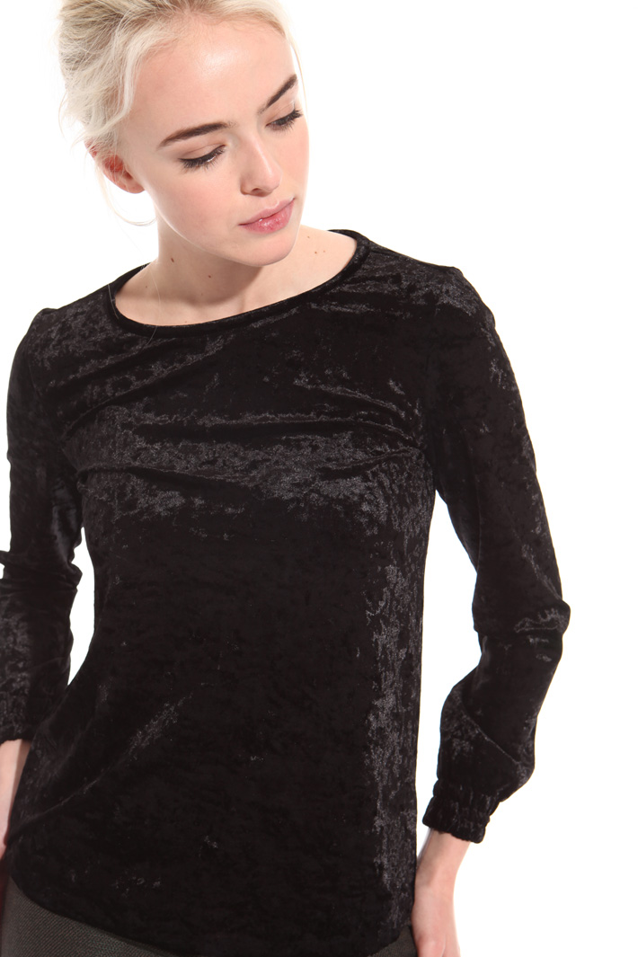 Hammered chenille T-shirt Intrend