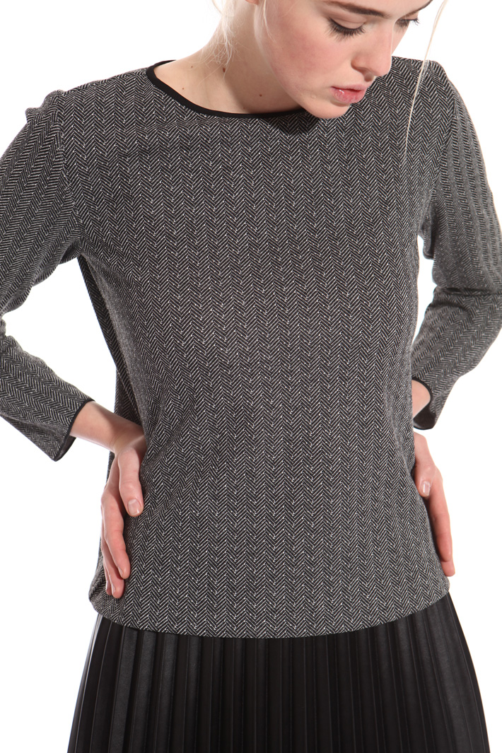 Jacquard jersey sweater Intrend