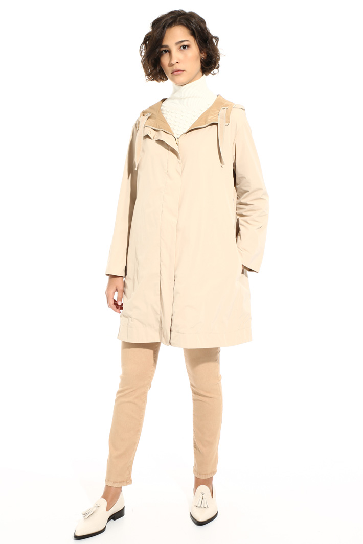 Technical twill parka jacket Intrend