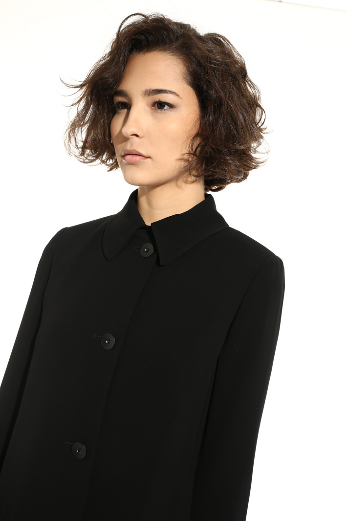 Long triacetate jacket Intrend