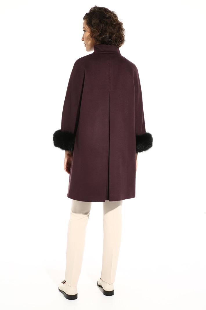 Fox fur cuff coat Intrend