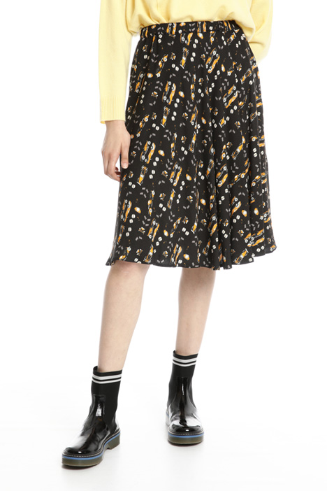 Flounced viscose skirt Intrend