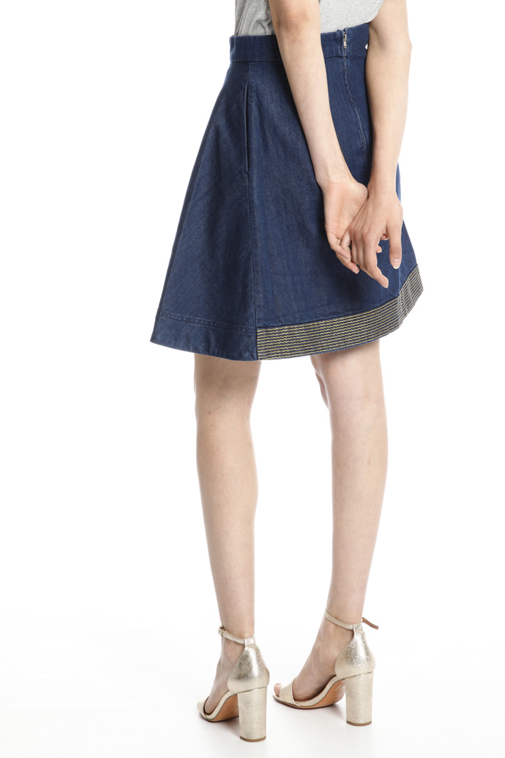 Lamé embroidery skirt Intrend