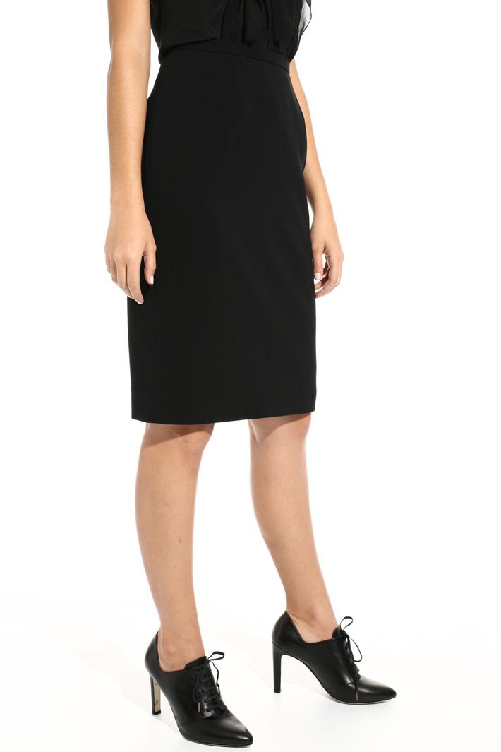 Short triacetate skirt Intrend