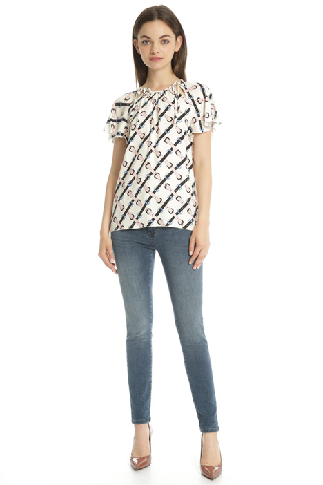 Blusa in viscosa crepe Intrend