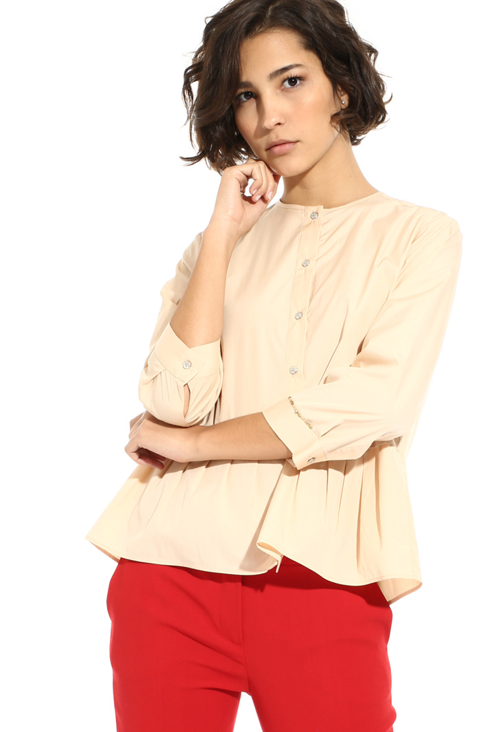 Flounced hem blouse Intrend