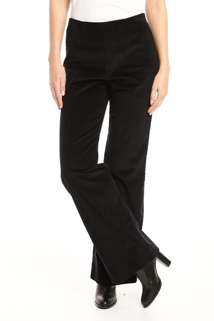 Ribbed palazzo trousers Intrend