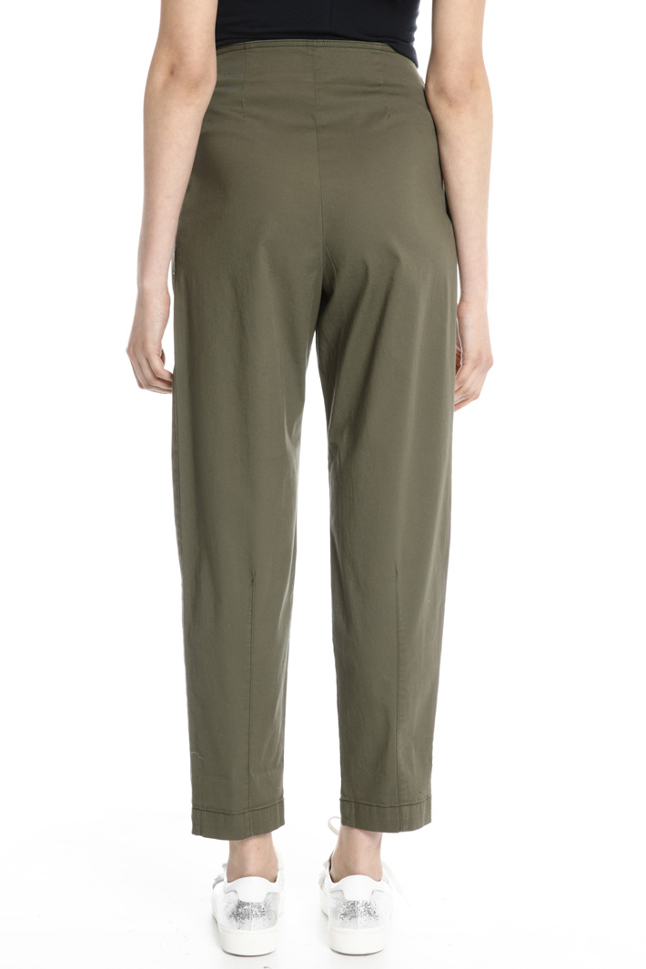 Cotton carrot trousers Intrend