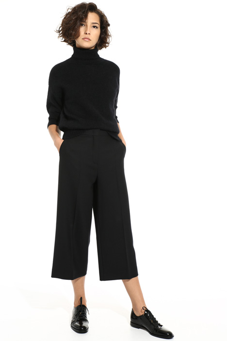 Pantaloni cropped in lana Intrend