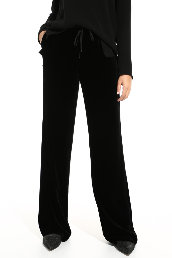 Viscose and silk trousers Intrend
