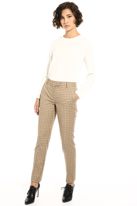 Long checked trousers Intrend
