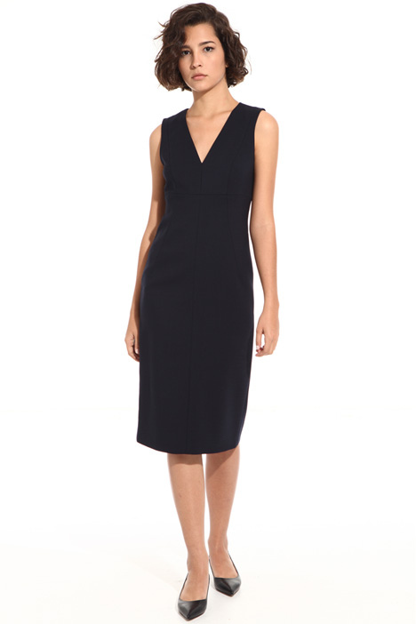 Sleeveless dress in pure wool Intrend