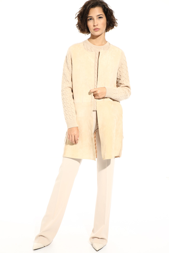 Wool and leather coat Intrend