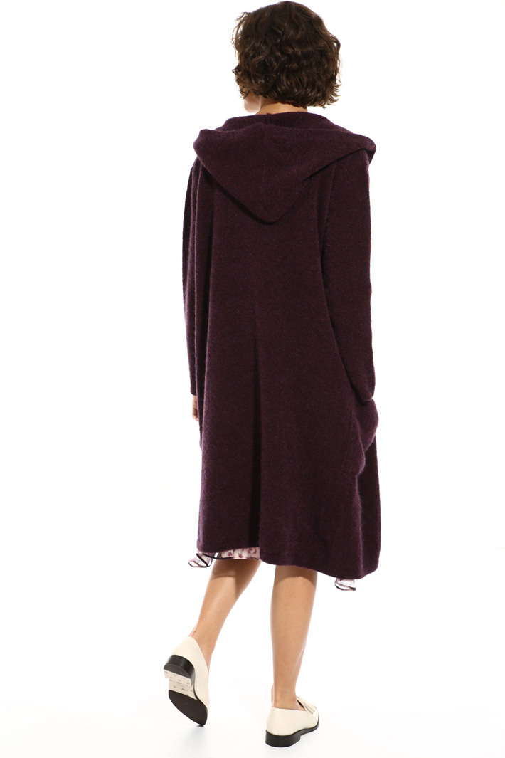 Wrap coat in mohair Intrend