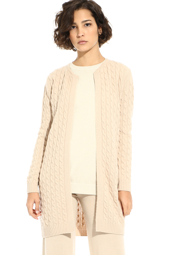 Braid knit cardigan Intrend