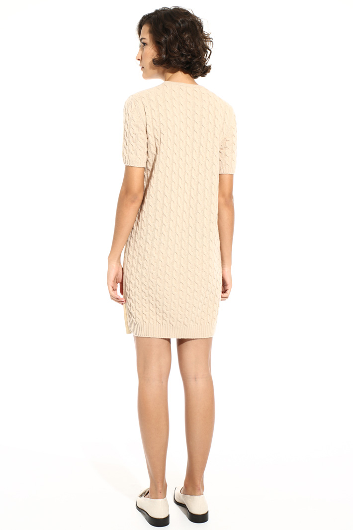 Braid knit short dress Intrend