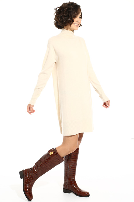 High neck knitted dress Intrend