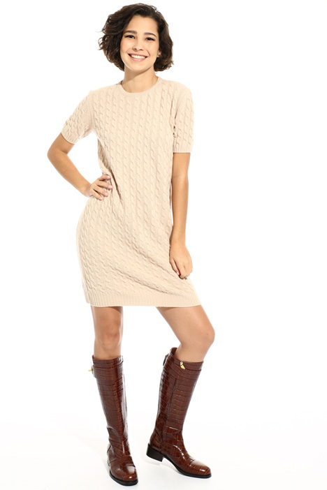 Braid knit dress Intrend