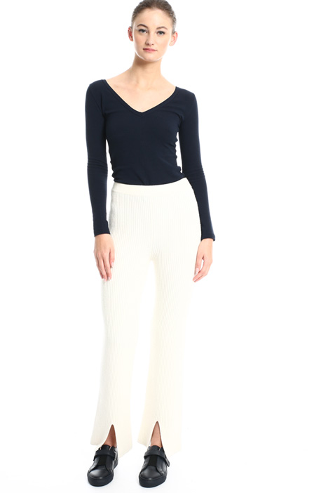 Ribbed knit trousers Intrend