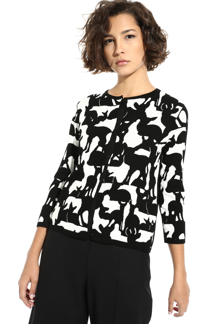 Printed viscose cardigan Intrend