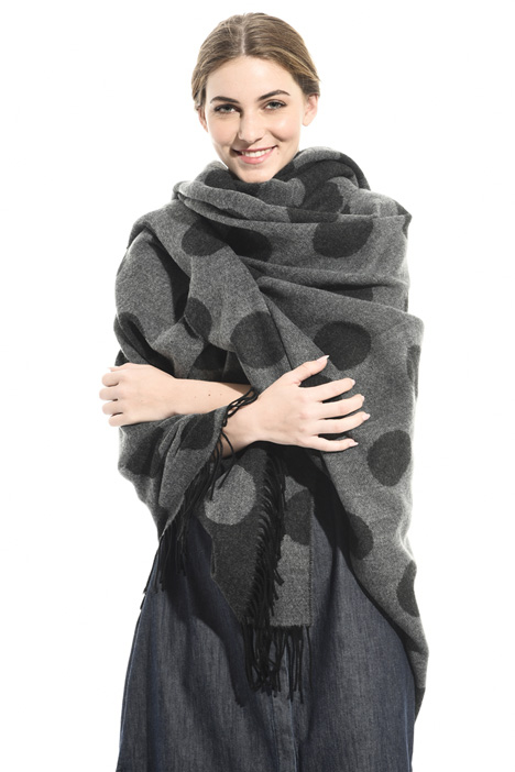 Patterned poncho Intrend